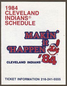 1984 CLEVELAND INDIANS B F GOODRICH TIRES BASEBALL POCKET SCHEDULE FREE SHIPPING #Schedule