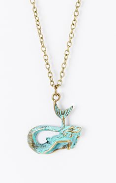Turquoise Mermaid Pendant Necklace