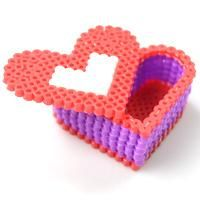 This tutorial is aimed at teaching you how to make a perler bead box, hope you like this 3d perler bead heart box pattern.