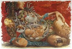 Venus Envy. Done by Montreal's surrealist painter, Heidi Taillefer. Absolutely stunning.