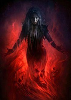 Dark Priestess by atomhawk on DeviantArt Dark Fantasy Art, Fantasy Artwork, Fantasy World, Celtic Fantasy Art, Dark Gothic Art, Fantasy Art Women, Fantasy Characters, Female Characters, Character Inspiration