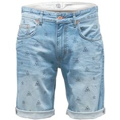 Shorts mit stylischen Motiven ♥ab 79,90€♥ Hier kaufen: http://stylefru.it/s329280 #fashionformen #style #denim