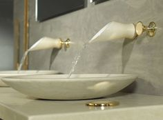 Elegance in even the tiniest detail.  Murano glass faucets by Bongio