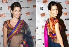 Kalki dazzles in a saree