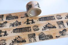 Aufkleber & Sticker - Tape URLAU Weltreis London New York Pisa Rom   - ein Designerstück von bespokedesign bei DaWanda