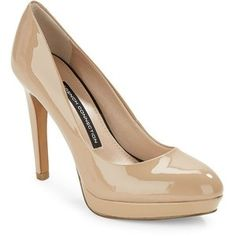 For the L.K. Bennett 'Sledge' Taupe Patent Leather Platform Pumps