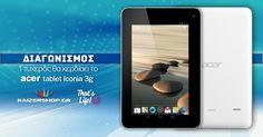 Κερδίστε+ένα+tablet+ACER+ICONIA+TAB+B1-711+προσφορά+του+kaizershop.gr Acer, Phone, Life, Telephone, Mobile Phones