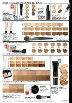 Mary Kay Foundations #marykay #makeup #face #cosmetics #foundation #imperfections