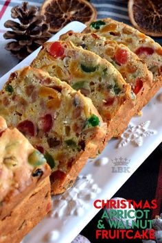 Christmas Apricot and Walnut Fruitcake - Lord Byron's Kitchen Christmas Cooking, Christmas Desserts, Christmas Fruitcake, Christmas Cupcakes, Christmas Ornaments, Best Fruitcake, Rock Recipes, Food Cakes, Cake