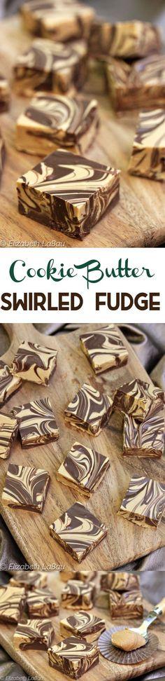Cookie Butter Swirled Fudge