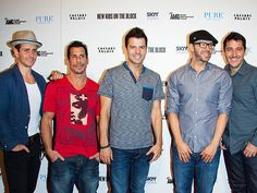 New Kids on the Block – Joey McIntyre, Danny Wood, Jordan Knight, Donnie Wahlberg and Jonathan Knight.