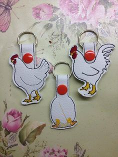 Chicken family Keyfobs