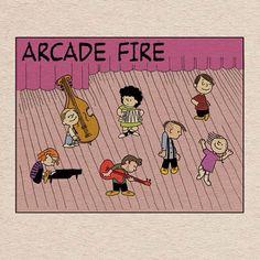 Arcade Fire versión Peanuts. ❤️❤️❤️❤️❤️❤️