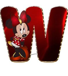 Minnie Png, Mickey Y Minnie, Minnie Mouse Party, Cute Alphabet, Alphabet And Numbers, Minnie Mouse Background, Mickey Mouse Letters, Character Letters, Disney Family