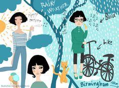 """Weather"" illustration by ivona knechtlova"