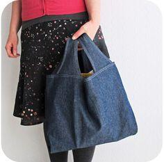 (36 x 36 x 15cm) Grocery Bag PDF Pattern Reusable Grocery Bag por michellepatterns
