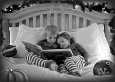 Big brother reading to his little sister.. Precious!  Bradyn already does this with Annie Rose, but I need to remember to snap a pic.
