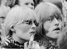 Her candid, casual portraits, such as this one of Brian Jones and Mick Jagger, helped launch her career. Description from pinterest.com. I searched for this on bing.com/images