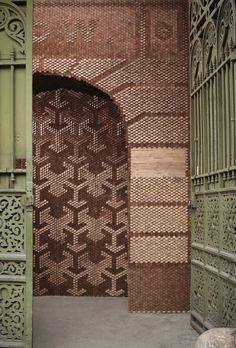 20 000 Wooden Hexagons by Giles Miller