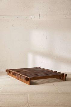 """bett Sarah Slatted Platform Bed Remember, """"used furniture"""" does not necessarily mean inferior qualit Bed Frame Design, Diy Bed Frame, Low Wooden Bed Frame, Wood Bed Frames, Diy Queen Bed Frame, Simple Wood Bed Frame, Twin Xl Bed Frame, Floor Bed Frame, Wooden Platform Bed"""
