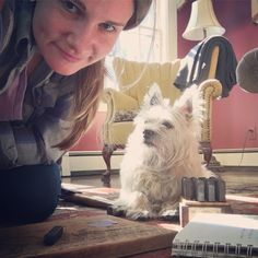 Fizziwig the cairn terrier- my Neverbird design consultant