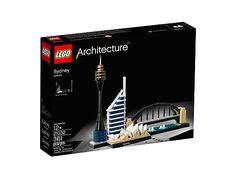Das Modell der Skyline von Sydney vereint Sydney Opera House™, Sydney Harbour Bridge, Sydney Tower und Deutsche Bank Place.