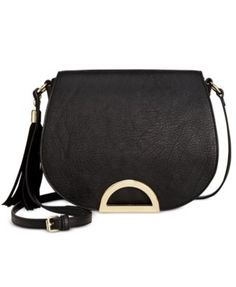 INC International Concepts Maraa Ring Saddle Bag, Only at Macy's - Crossbody & Messenger Bags - Handbags & Accessories - Macy's Black Saddle Bag, Saddle Bags, Over The Shoulder Bags, Small Shoulder Bag, Crossbody Messenger Bag, Crossbody Clutch, Latest Handbags, Fall Bags, Quilted Bag
