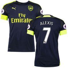 5174312e298 Alexis Sanchez Arsenal Puma 2016/17 Third Replica Patch Jersey - Navy Mesut  Ozil Arsenal