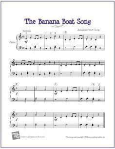 Banana Boat Song Day O With Images Sheet Music Piano Sheet