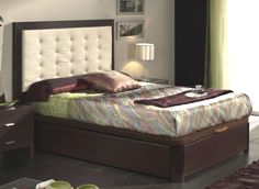 Storage Bed: Dupen Collection Wenge Finish Bed