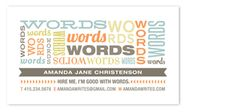 guess what? // The Typography Business Card Challenge
