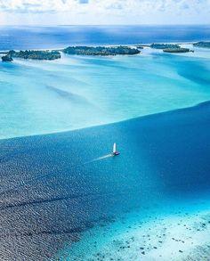 Bora Bora, French Polynesia 💙 Photo by: Bora Bora Photos, Photos Voyages, Destin Beach, Top Of The World, French Polynesia, Beautiful Places To Visit, Beautiful Islands, Belle Photo, Travel Pictures