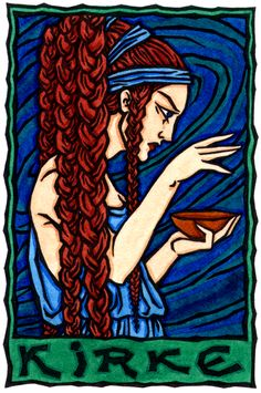 Kirke, Greek Enchantress and Goddess of Transformation/I hold open the gate to darkness.