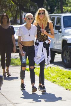 Arm in arm: Kristen Stewart was enjoying some PDA with girlfriend Stella Maxwell in New Orleans on Tuesday