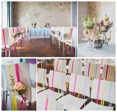 Vintage chair decor and ceremony table styling at the Midland Hotel, Morecambe by Itsy Bitsy Vintage. Photo by Tobiah Tayo.