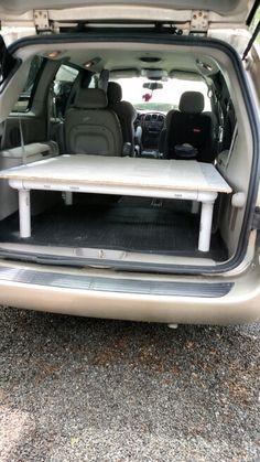 My pvc bed frame Town & Country van.