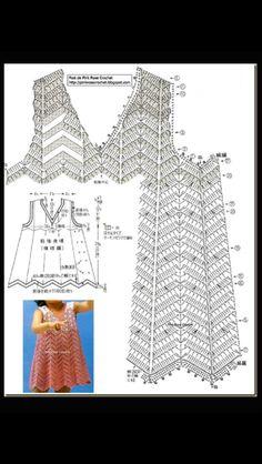 Crochet baby dress chart pattern