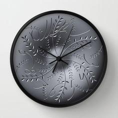 Floral wall clock, Numbered wall clock, elegant clock, unique wall clock design, 3D effect, precious wall decor design
