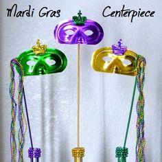 DIY Mardi Gras Centerpiece - Purple Patch DIY Crafts Blog