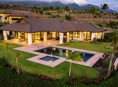 Kaanapali Luxury Golf Course Estate #luxury #homes #house #backyard #pool #landscaping #design #architecture
