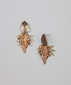 Take a look at this Bronze & Brown Leaf Earrings by Jody Coyote on @zulily today!