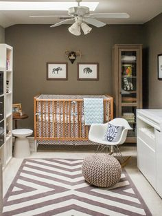 Taupe and gray nursery