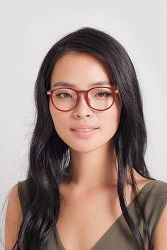 99bcab831cf3 Red Round Prescription Eyeglasses-Medium Full-Rim Plastic Eyewear-Muse
