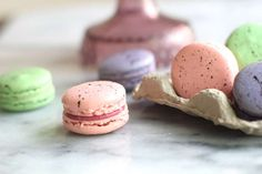 Speckled Macarons