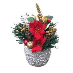 Karácsonyi asztaldísz mikulásvirággal