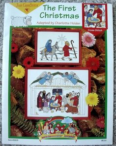 New Just Cross Stitch The First Christmas Pattern Chart Leaflet -Beginners Bible #JustCrossStitch