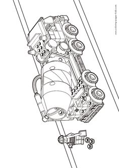 Lego truck coloring page for kids, printable free. Lego coloring ...