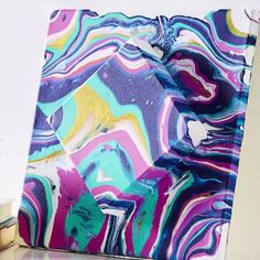 Paint pouring is so easy and mesmerizing! Make this DIY Stacked Canvas Paint Pouring Art to take your pours to a new level! Anyway you pour it, this colorful canvas craft turns out perfect every time. Michaels makes it easy to create this paint pour proje Fun Crafts, Arts And Crafts, Simple Crafts, Bead Crafts, Acrylic Pouring Art, Canvas Crafts, Art On Canvas, Painted Canvas, Wall Canvas