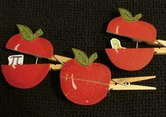 Apple clothespin craft