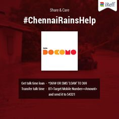 Our prayers for the safety of Chennai! Know these free benefits from network operators and get connected. Your loved ones are concerned about you! Stay in touch with them. #ChennaiRains  #PrayforChennai #BangaloreForChennai #Bangalore4Chennai #ChennaiRainshelp #ChennaiRescue #bangaloreCares